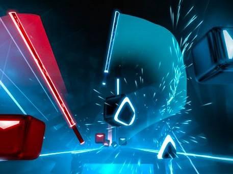 Animation Réalité Virtuelle beat saber