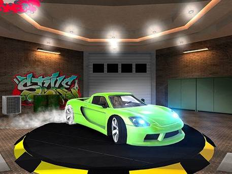 Animation VR jeu de course voiture