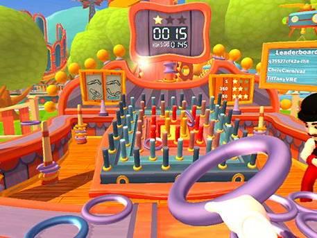 Mini jeux réalité virtuelle fête forraine
