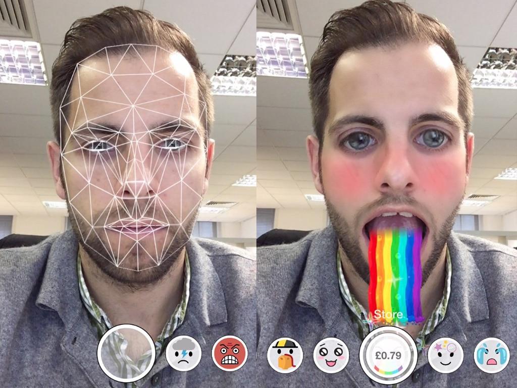 Filtres réalité augmentée visage