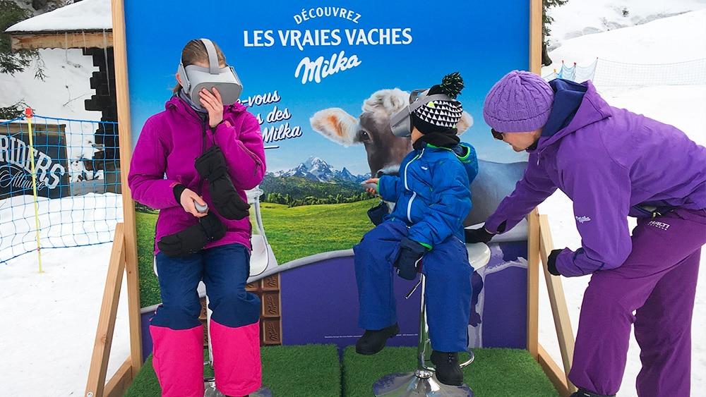 Milka animation réalité virtuelle