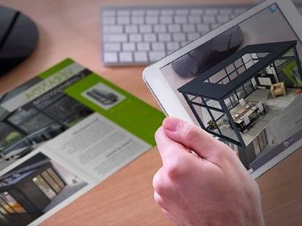 plan d'architecture réalité augmentée immobilier