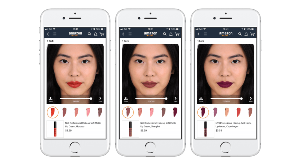 Virtual try-on maquillage
